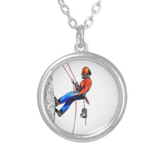 Tree Surgeon Arborist Stihl Silver Plated Necklace