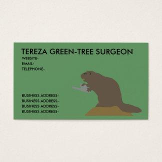 Tree surgeon business card