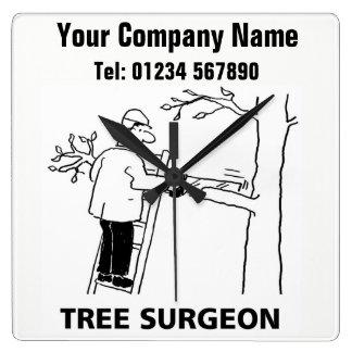 Tree Surgeon Services Cartoon Clock