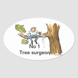 tree surgeon oval sticker