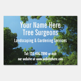Tree Surgeons / Garden Services Customizable Sign