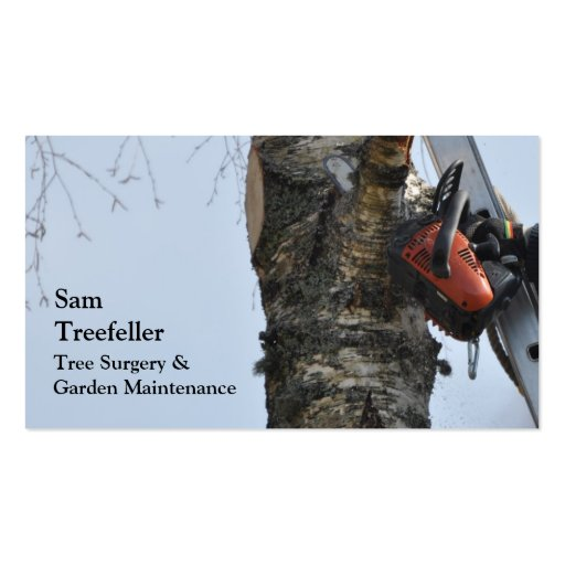 Tree surgery business card