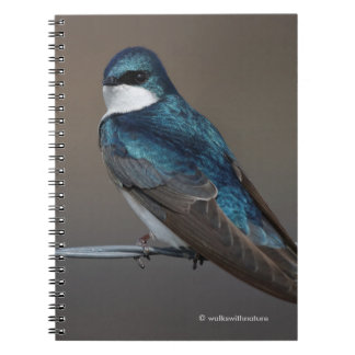 Tree Swallow: Bird on a Wire Spiral Notebook