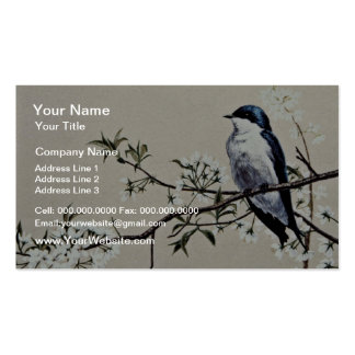 Tree swallow  flowers Double-Sided standard business cards (Pack of 100)