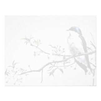 Tree swallow  flowers letterhead