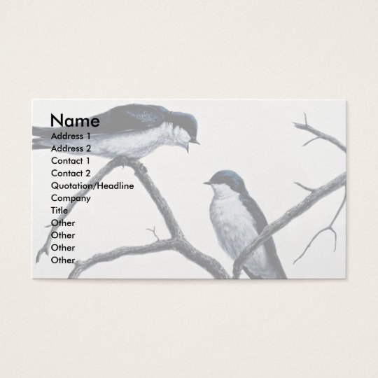 Tree swallows business card