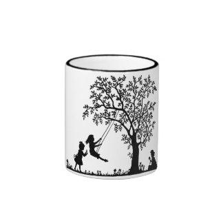 Tree Swing Black & White Mug