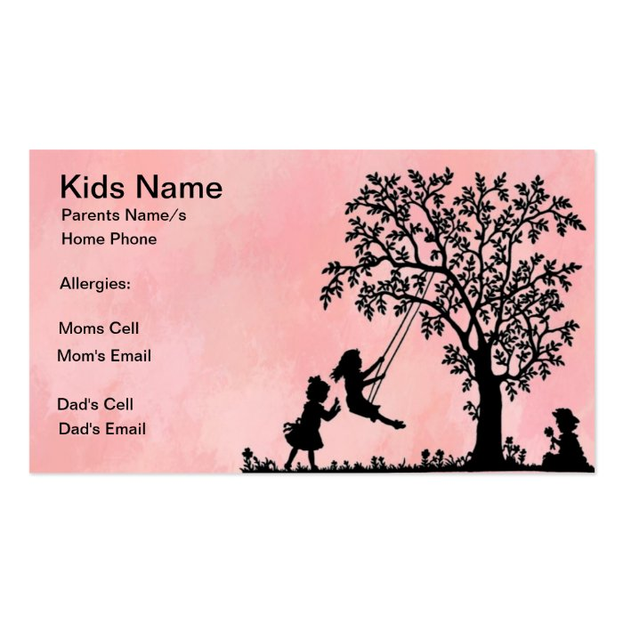 Tree Swing Calling Card
