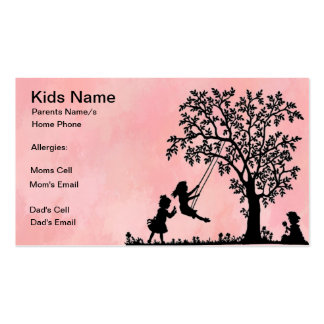 Tree Swing Calling Card Double-Sided Standard Business Cards (Pack Of 100)