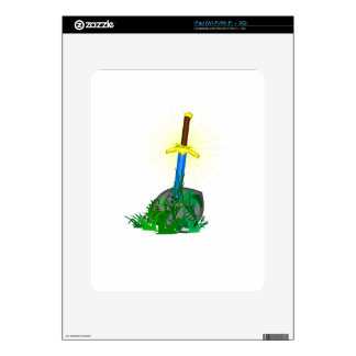 tree sword knife decal for iPad