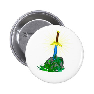 tree sword knife pinback button