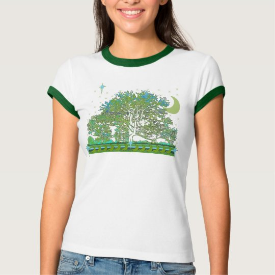 Tree T-shirts with Moon and Stars