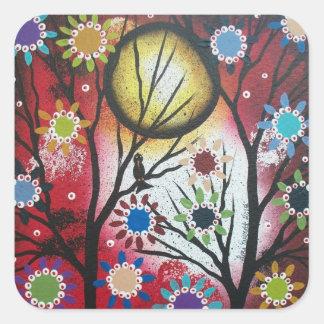 Tree Talk_By Lori Everett_ Day Of The Dead,DOD Square Sticker