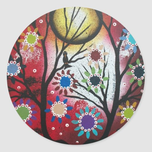 Tree Talk_By Lori Everett_ Day Of The Dead,DOD Classic Round Sticker