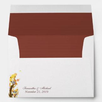 Tree theme Wedding Invitation A7 Felt Envelopes