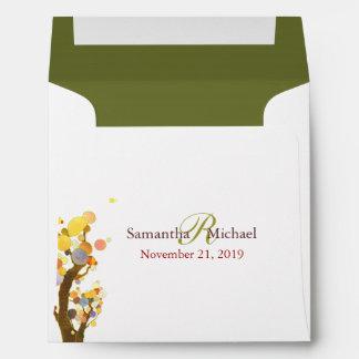 Tree Theme Wedding Invitation Square Envelopes