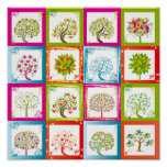 Tree tiles 4x4 print