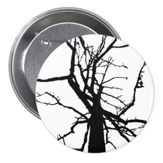 Tree Top Abstract 3 Inch Round Button