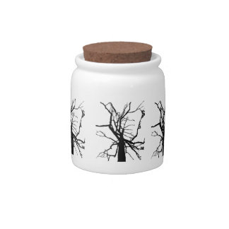 Tree Top Abstract Candy Jar