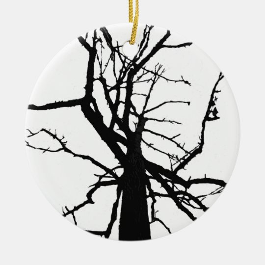 Tree Top Abstract Ceramic Ornament