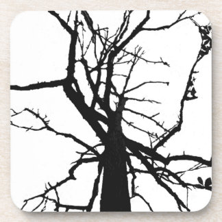 Tree Top Abstract Cork Coasters