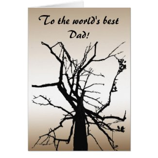 Tree Top Abstract Fathers Day Card