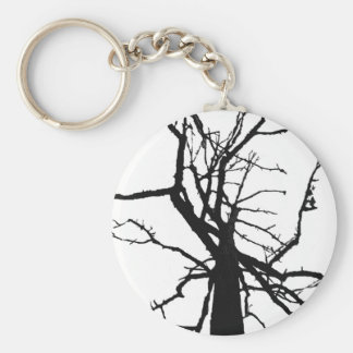 Tree Top Abstract Keychain