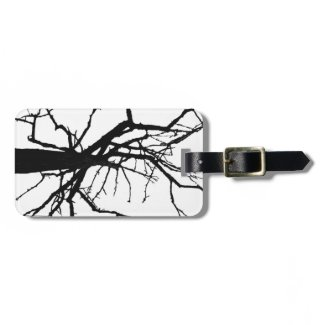 Tree Top Abstract Luggage Tag
