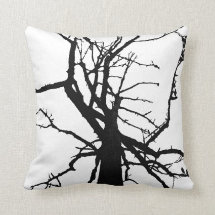 Tree Top Abstract Pillow
