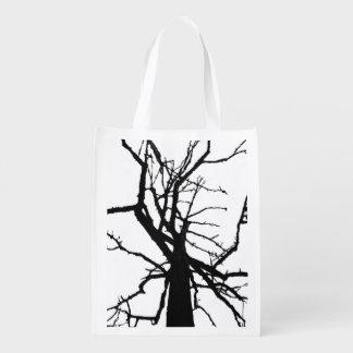Tree Top Abstract Reusable Grocery Bag