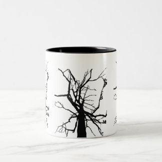 Tree Top Abstract Two-Tone Coffee Mug