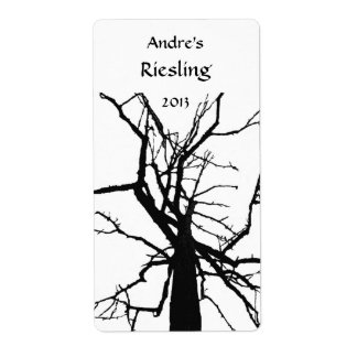 Tree Top Abstract Wine Label