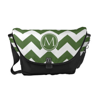 Tree Top Chevron Monogrammed Courier Bag