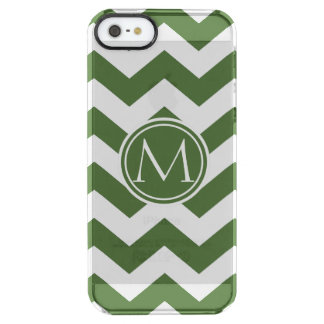 Tree Top Chevron Monogrammed Uncommon Clearly™ Deflector iPhone 5 Case