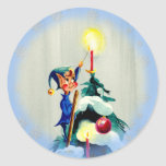 TREE TOP ELF by SHARON SHARPE Stickers