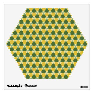 Tree Top Green and Gold Triangle-Hex Wall Decal