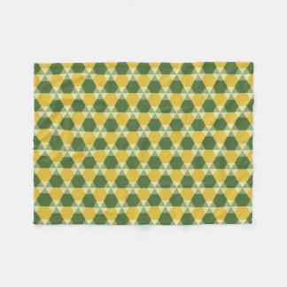 Tree Top Green/Gold Triangle-Hex Fleece Blanket