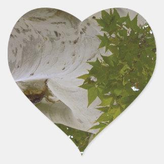 Tree top heart sticker
