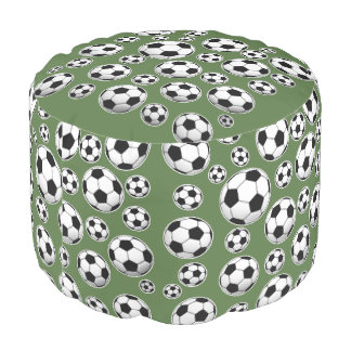 Tree Top Soccer Ball Pattern Pouf
