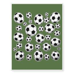 Tree Top Soccer Ball Pattern Temporary Tattoos