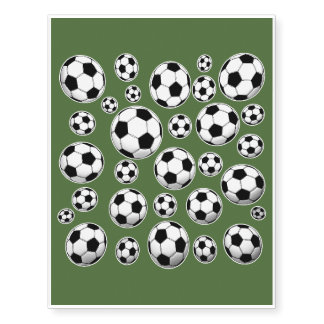 Tree Top Soccer Ball Pattern Temporary Tattoos