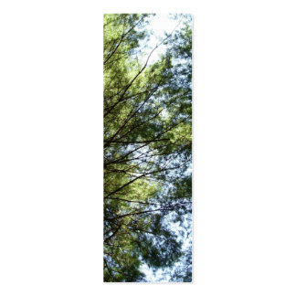 Tree Top View Bookmark Double-Sided Mini Business Cards (Pack Of 20)