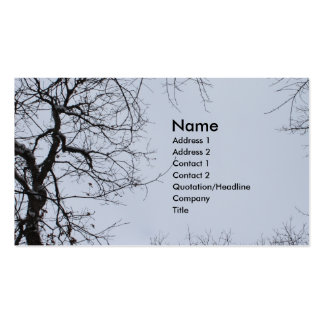 Tree Tops Branches in Snow in Winter Blue Grey Sky Business Cards