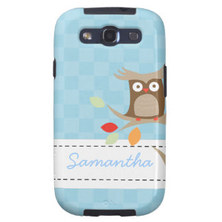 Tree Tops Owl Custom Name Android Phone Case Galaxy S3 Case