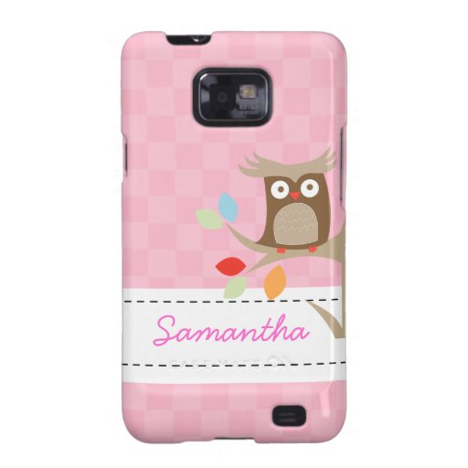 Tree Tops Owl Custom Name Android Phone Case Samsung Galaxy S2 Case