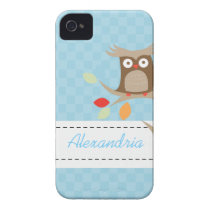 Tree Tops Owl Custom Name Blackberry Phone Case