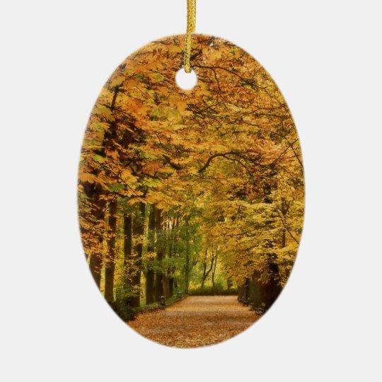 Tree Totally Autumn Ceramic Ornament