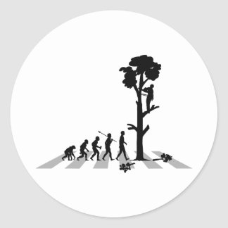 Tree Trimmer Classic Round Sticker
