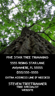 Tree Trimming Business Card