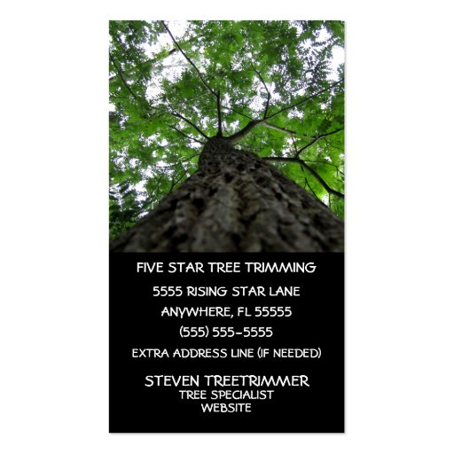 Tree trimming business card zazzle for Tree removal business cards